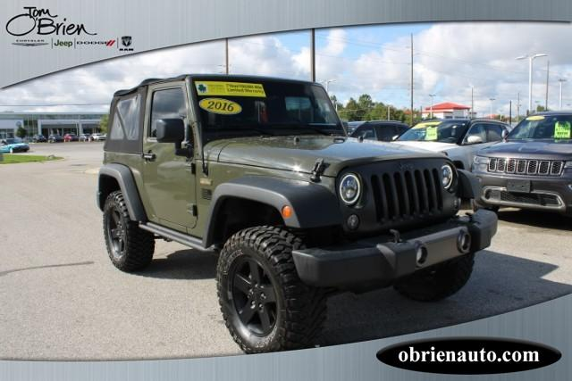 Pre-Owned 2016 Jeep Wrangler 4WD 2dr Black Bear *Ltd Avail*