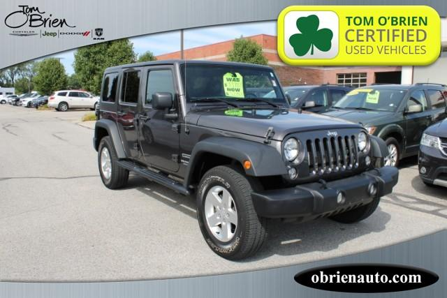 Pre-Owned 2016 Jeep Wrangler Unlimited 4WD 4dr Sport