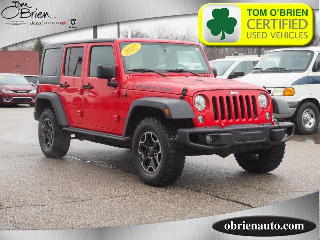 Pre Owned 2017 Jeep Wrangler Unlimited Rubicon Hard Rock 4x4 Ltd Avail
